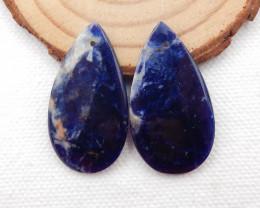 31.5cts Blue Sodalite Earrings Square earrings beads, stone for earrings ma