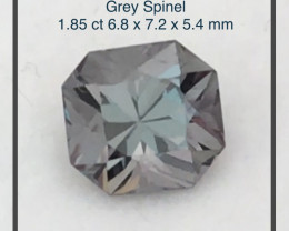 Pretty Charcoal Grey 1.85ct Spinel - Burma Ref 2281