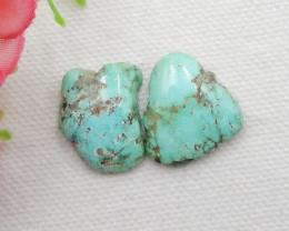 2pcs Nugget Turquoise Cabochons ,Handmade Gemstone ,Turquoise Cabochons G22