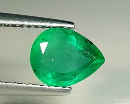 1.35 ct  Amazing Gem Stunning Pear Cut Natural Emerald