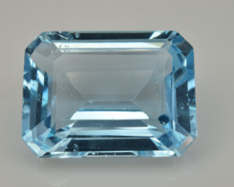 Natural Sky Blue Topaz 12.65  Cts Good Luster