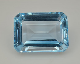 Natural Sky Blue Topaz 13.10  Cts Good Luster