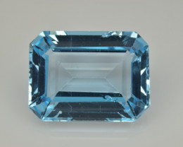 Natural Sky Blue Topaz 15.24  Cts Good Luster