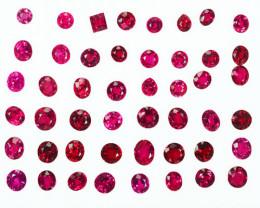 12.15Ct Natural Vibrant Red Natural Burmese Spinel Parcel