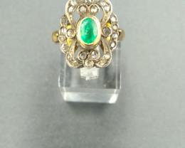 Antique Venetian Emerald Gold Ring
