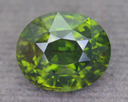 Rare 4.87 ct Green Zircon Great Luster Unheated Cambodia SKU.9