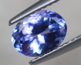 1.34Ct Natural Violet Blue Tanzanite Oval Cut Lot LZ6355