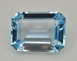 Natural Sky Blue Topaz 13.55  Cts Good Luster