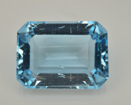 Natural Sky Blue Topaz 13.92  Cts Good Luster