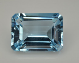 Natural Sky Blue Topaz 13.54  Cts Good Luster