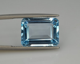 Natural Sky Blue Topaz 13.15  Cts Good Luster