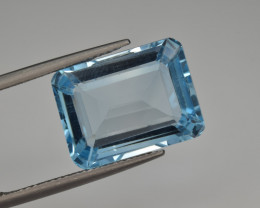 Natural Sky Blue Topaz 14.11  Cts Good Luster