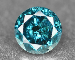 0.12 Cts Sparkling Rare Fancy Intense Blue Color Natural Loose Diamond
