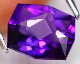 Uruguay Amethyst 2.35Ct VVS Master Cut Natural Violet Amethyst C2304