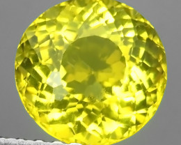 1.45 CTS EXQUISITE TOP YELLOW COLOR UNHEATED ROUND APATITE GEM!!