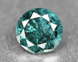 0.15 Cts Sparkling Rare Fancy Intense Greenish Blue Color Natural Loose Dia