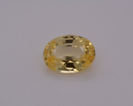 GIA Certified Unheated Yellow Sapphire 1.14 Carats Untreated GIA Certificat