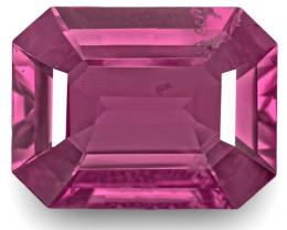 GIA Certified Burma Spinel, 8.72 Carats, Deep Pink Emerald Cut