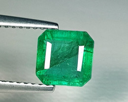1.51 ct  Top Grade Gem Amazing Square Cut Natural Emerald