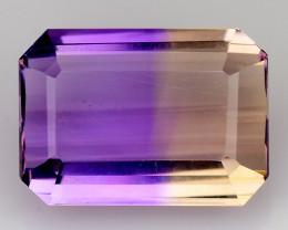 3.14 Cts Bolivian Ametrine Stunning Luster & Cut Gemstone  AR15