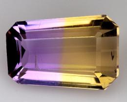 3.16 Cts Bolivian Ametrine Stunning Luster & Cut Gemstone  AR25