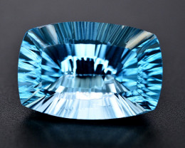 Amazing Laser Cut 44.80 Ct Natural Swiss Blue Color Topaz