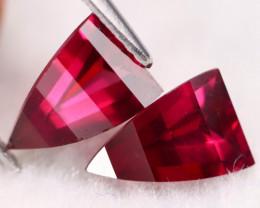 Umbalite 2.91Ct VVS Fancy Trillion Cut Natural Umbalite Garnet Pair BN0157