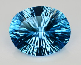Amazing Laser Cut 36.15 Ct Natural Swiss Blue Color Topaz