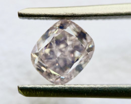 GIA Certificate 1.01 ct Cushion Light Pink SI2