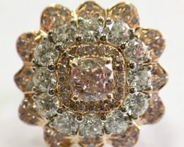 GIA Cushion 2.08 Total Carat  Engagement Diamond Ring  Natural Fancy Purpli