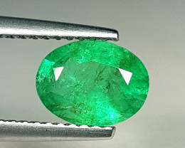 1.35 ct  Exclusive Top Luster Gem Stunning Oval Cut Natural Emerald
