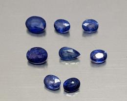 2.45CT NATURAL BLUE SAPPHIRE PARCEL BEST QUALITY GEMSTONE IIGC24