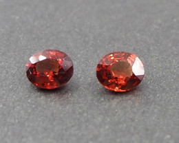 1.34ct Natural red spinel pair