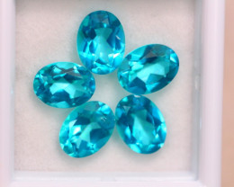 7.28Ct Natural Paraiba Color Topaz Oval Cut Lot B1719