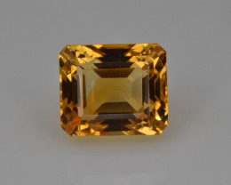 Natural Citrine 6.03  Cts Faceted Gemstone