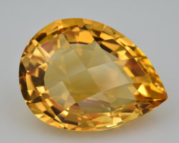 Natural Citrine 22.33  Cts Faceted Gemstone
