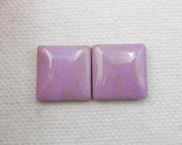 14.5cts ziyun mother jasper cabochons earrings ,gemstone earrings ,healing