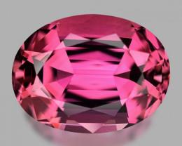 Flawless, custom precision oval cut neon pink tourmaline.