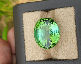 Blue green   31.27 carats. Spectacular color huge size beautiful cut.