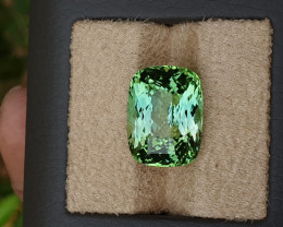 Light blue to green 17.73 carats. Spectacular color.