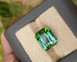 Green 15.79 ct unheated tourmaline.  No treatments.