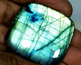 77.77 ct Natural Labradorite Octagon Cabochon  Gemstone