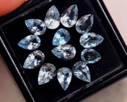 4.55ct Natural Blue Aquamarine Pear Cut Lot GW8418