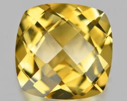 6.96 Cts Amazing Rare Checket Board Golden Yellow Natural Citrine  Gemstone