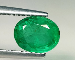 1.54 ct  Collective Gem Top Green Beautiful Oval Cut Natural Emerald