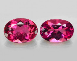 1.94 Cts 2pcs Un Heated Pink Color Natural Rubellite  Loose Gemstone