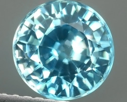 2.70 CTS ATTRACTIVE ULTRA RARE NATURAL ZIRCON ROUND EXECLLENT!!