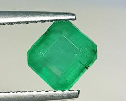 1.27 ct  Collector's  Gem Exclusive Octagon Cut Natural Emerald