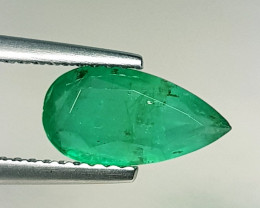 1.15 ct  Top Grade Gem Stunning Pear Cut Natural Emerald