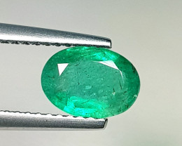 0.95 ct  Collector's Gem Excellent Oval Cut Natural Emerald